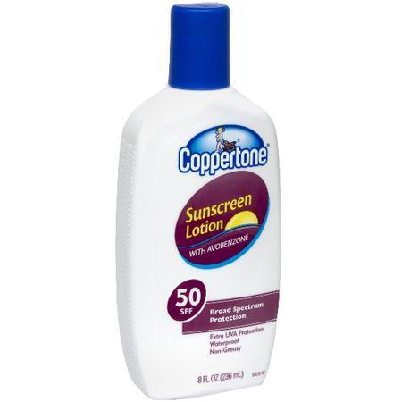 Coppertone Sunscreen Lotion, with Avobenzone, SPF 50, 8 oz