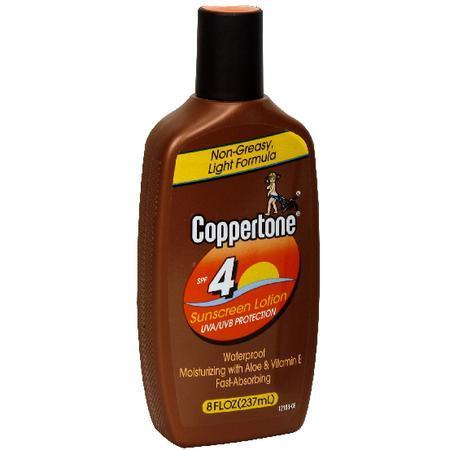 Coppertone Sunscreen Lotion, SPF 4, 8 oz