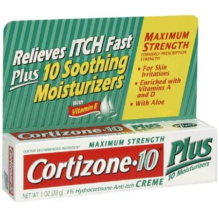 Cortizone Hydrocortisone Anti-Itch Creme, Plus 10 Moisturizers Maximum Strength, 1 oz