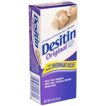 Desitin Zinc Oxide Diaper Rash Ointment, Original, 2 oz