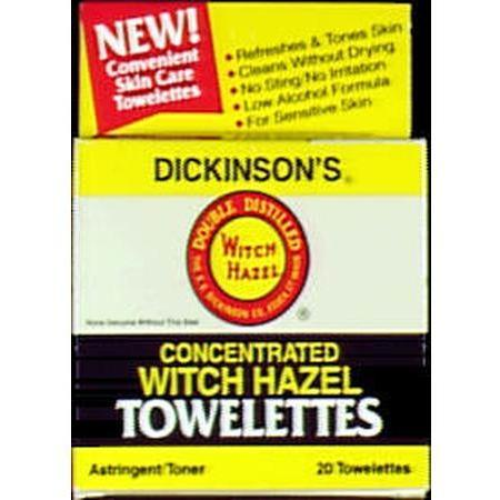 T.N. Dickinson Dickinsons Witch Hazel Towelette, 20 ea