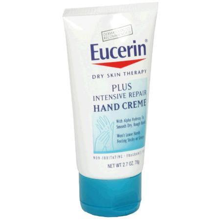 Eucerin Hand Creme, Plus Intensive Repair, 2.7 oz
