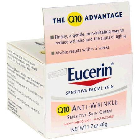 Eucerin Q10 Anti-Wrinkle Sensitive Skin Creme, 1.7 oz