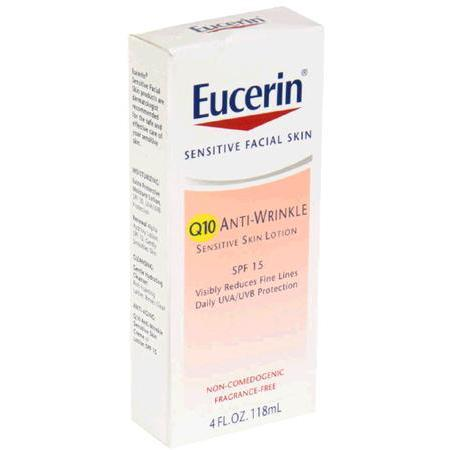 Eucerin Q10 Anti-Wrinkle Sensitive Skin Lotion, SPF 15, 4 oz