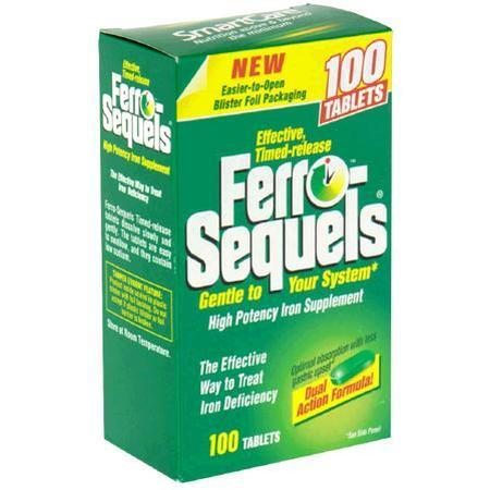 Ferro-Sequels, High Potency Iron Supplement, 100 tab