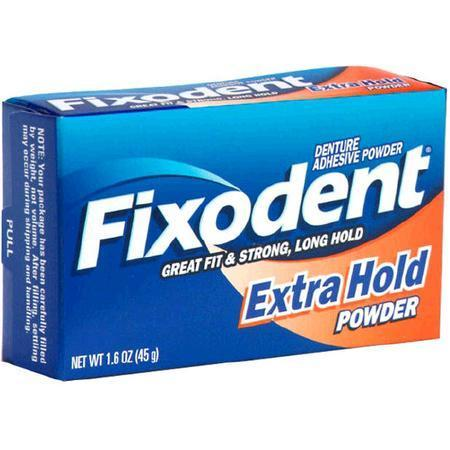 Fixodent Denture Adhesive Powder, Extra Hold, 1.6 oz