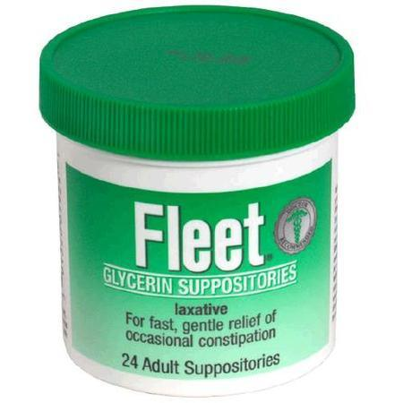 Fleet Glycerin Suppositories, Adult Size, 24 ea
