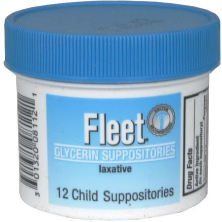 Fleet Glycerin Child Suppositories, Laxative, 12 ea