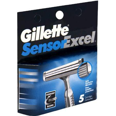 Gillette Sensor Excel Cartridges, 5 ea