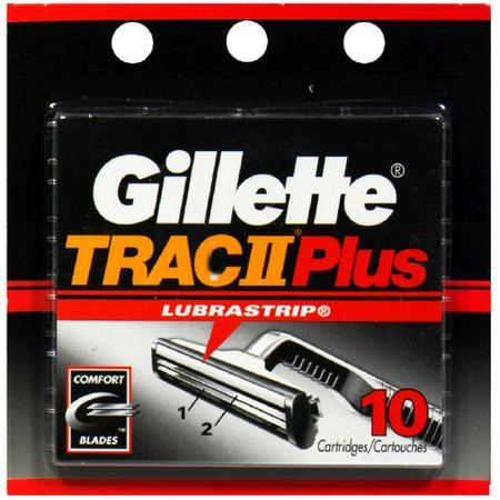 Gillette Trac II Cartridges with Lubrastrip, 10 pack