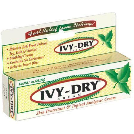 Ivy-Dry Skin Protectant Topical Analgesic Cream, 1 oz