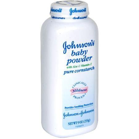 Johnson & Johnson Baby Powder,  Pure Cornstarch with Aloe & Vitamin E, 9 oz