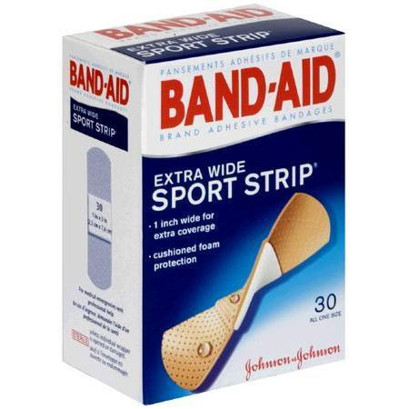 Band-Aid Adhesive Bandages, Extra Wide, 30 ea
