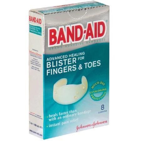 Band-Aid Blister Cushions,  Fingers & Toes, 8 patches