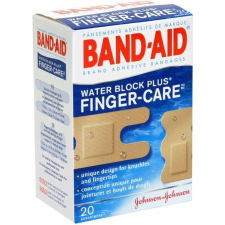 Johnson & Johnson Finger-Care Adhesive Bandages,  Assortment, 20 ea