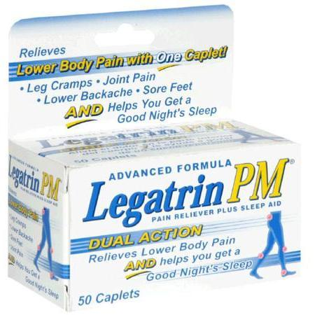 Legatrin Pain Reliever Plus Sleep Aid, Advanced Formula, Caplets, 50 caplets