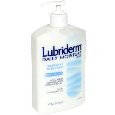 Lubriderm Daily Moisture Lotion, for Normal to Dry Skin, Fragrance Free, 16 oz