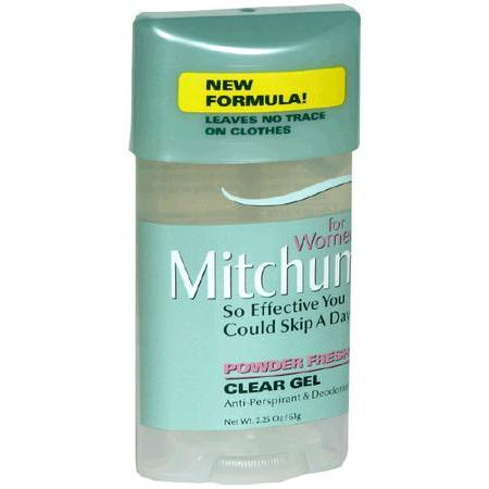 Mitchum Anti-Perspirant & Deodorant, for Women, Clear Gel, Powder Fresh, 2.25 oz