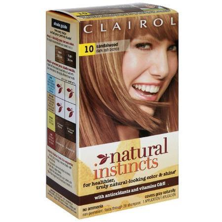 Natural Instincts Haircolor, Sandalwood Dark Cool Blonde 10, 1 ea