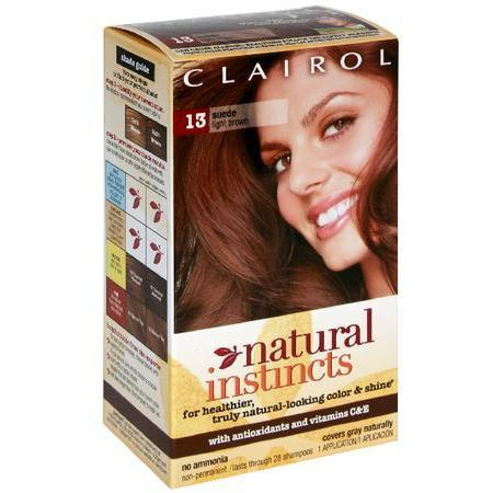 Natural Instincts Non-Permanent Haircolor, Suede, Light Brown 13, 1 ea