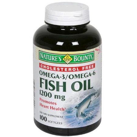 Nature's Bounty Fish Oil, 1200 mg- 100 soft gels