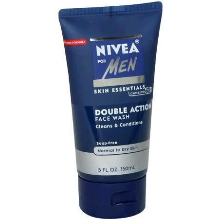 Nivea Double Action Face Wash, Normal to Dry Skin, 5 oz