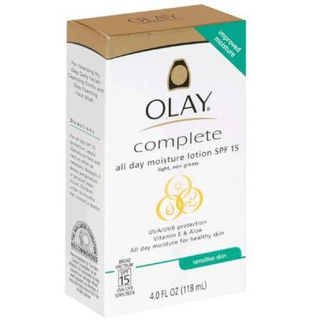 Olay All Day Moisture Lotion, SPF 15, Sensitive Skin, 4 oz