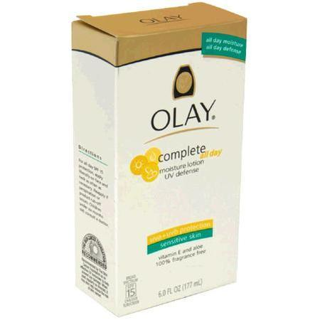 Olay UV Defense Moisture Lotion, for Sensitive Skin, SPF 15, 6 oz