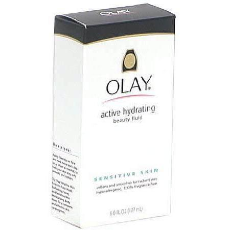 Olay Active Hydrating Beauty Fluid, for Sensitive Skin, 6 oz