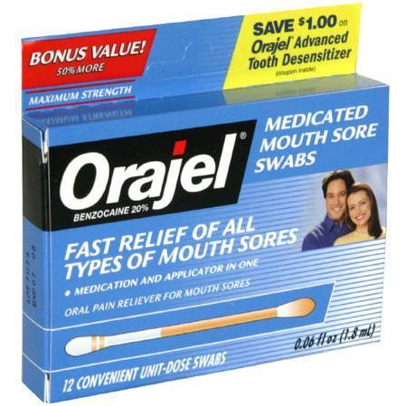 Orajel Medicated Mouth Sore Swabs, Maximum Strength, 8 ea