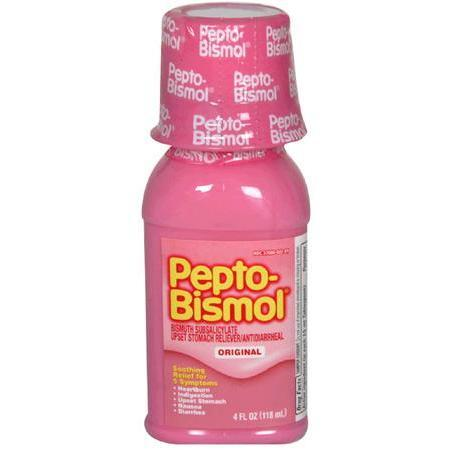 Pepto Bismol Upset Stomach Reliever/Antidiarrheal, Original, 4 oz