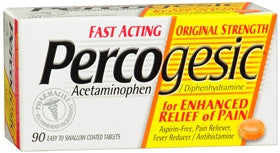 Percogesic Original Strength Pain Reliever, 90 coated tablets