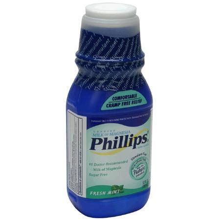 Phillips Milk of Magnesia, Sugar Free, Fresh Mint, 12 oz