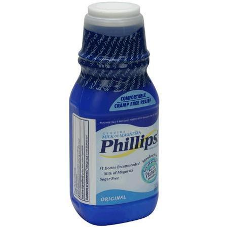 Phillips Milk of Magnesia, Sugar Free, Original, 12 oz