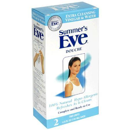 Summers Eve Douche, Extra Cleansing Vinegar & Water, 2 Units 4.5 oz