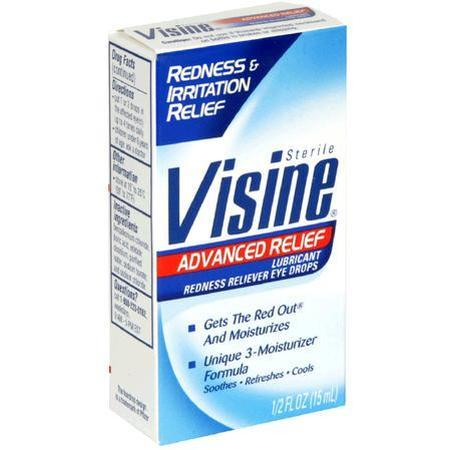 Visine Lubricant/Redness Reliever Eye Drops, for Redness & Irritation Relief, 0.5 oz