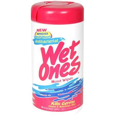 Wet Ones Antibacterial Thick Moist Wipes, Fresh Scent, 40 ea