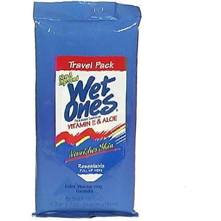 Wet Ones Travel Pack, Vitamin E & Aloe, 15 ea