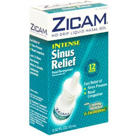 Zicam No Drip Liquid Nasal Gel,  with Cooling Menthol & Eucalyptus, Intense Sinus Relief, 0.5 oz