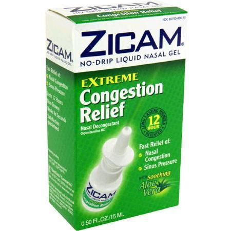 Zicam No Drip Liquid Nasal Gel,  with Soothing Aloe Vera, Extreme Congestion Relief, 0.5 oz