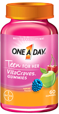 One A Day Teen For Her VitaCraves Gummies, 60 gummies