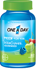 One A Day Teen For Him VitaCraves Gummies, 60 gummies