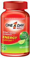 One A Day VitaCraves Gummies with Energy Support, 60 gummies