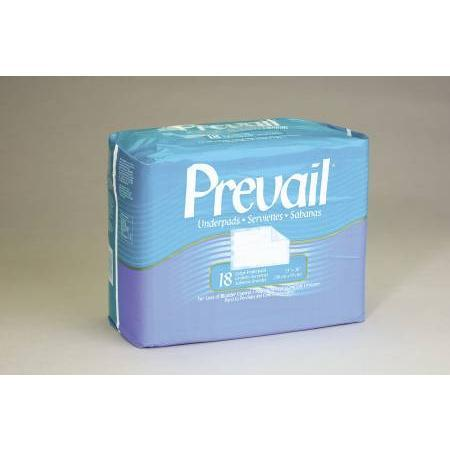 First Quality Products Inc. Prevail Disposable Underpad,  Large 23X36 Fluff Green Latex Free, 72 ea
