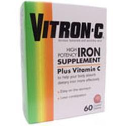 Insight Pharm / Heritage Brands Vitron - C High Potency Iron Supplement Coated Tablets,  65 mg- 60 tab