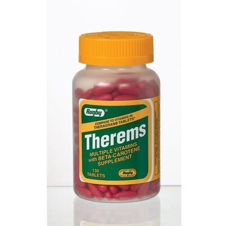 Watson Pharma Rugby Therems Multi-Vitamins, with Beta Carotene, 130 tab