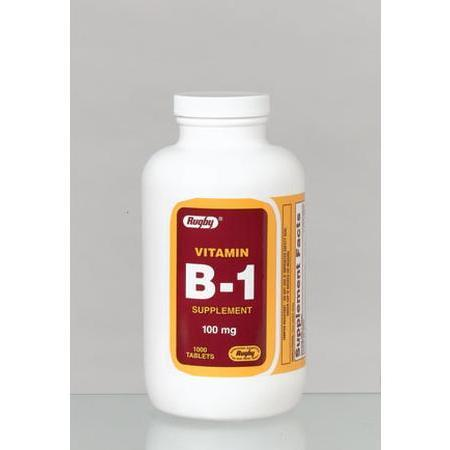 Watson Pharma Rugby, Vitamin B-1 Supplement, 100 mg- 1000 tab
