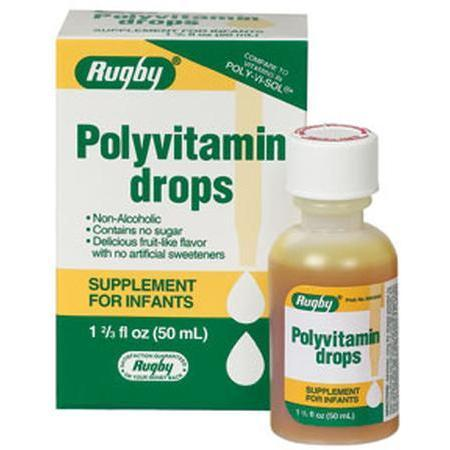 Watson Pharma Rugby, Poly-Vitamin Drops For Infants, 50 ml