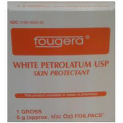 Fougera & Co. Petrolatum, White Petroleum Jelly Foil Packets, 144 Units 5 gram