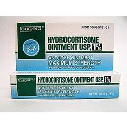 Fougera & Co. Hydrocortisone 1 % Maximum Strength Anti-Itch Cream, foil packs, 48 Units 1.5 gram